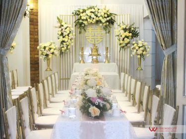 Trang trí lễ gia tiên đám cưới tai nhà