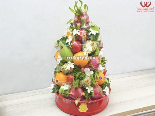 Quả trái cây xếp tháp - Mâm quả cưới hỏi