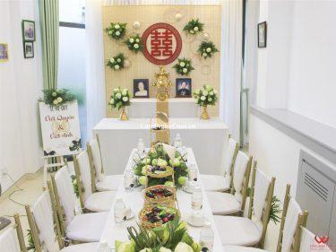 Trang trí nhà cưới hỏi hoa sen
