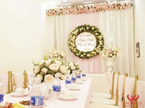 Trang trí lễ gia tiên đám cưới đẹp